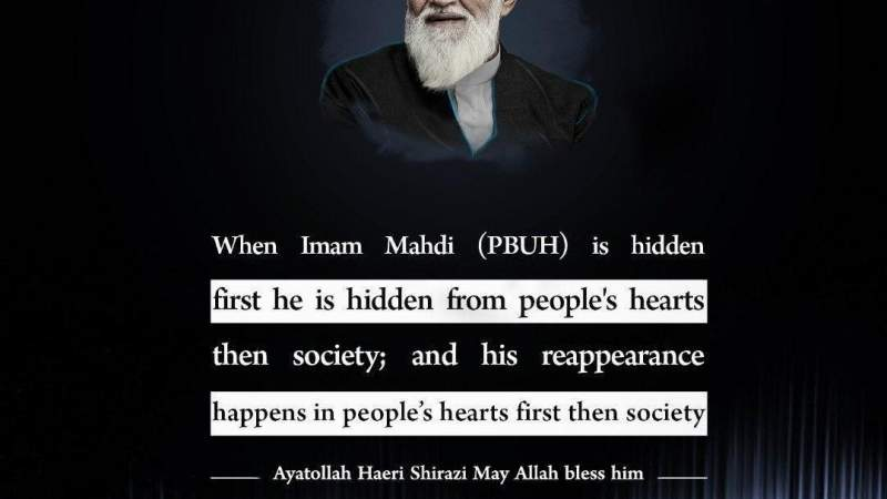 His reappearance happens in people's hearts first then society
